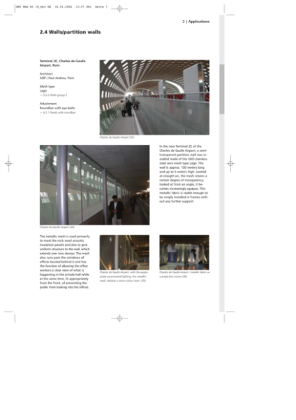 Wall cladding and partition walls - Charles de Gaulle Airport