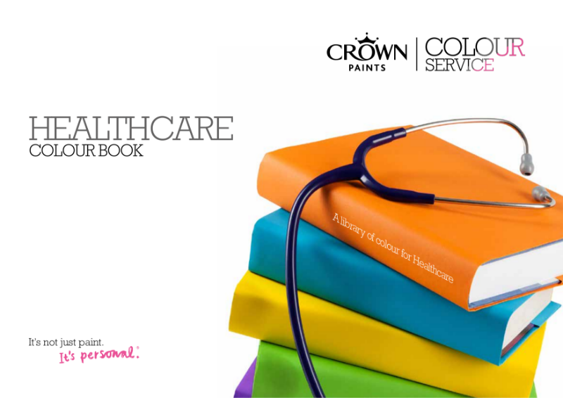 Crown Paints Healthcare colour book