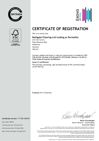FSC - Certificate of Registration