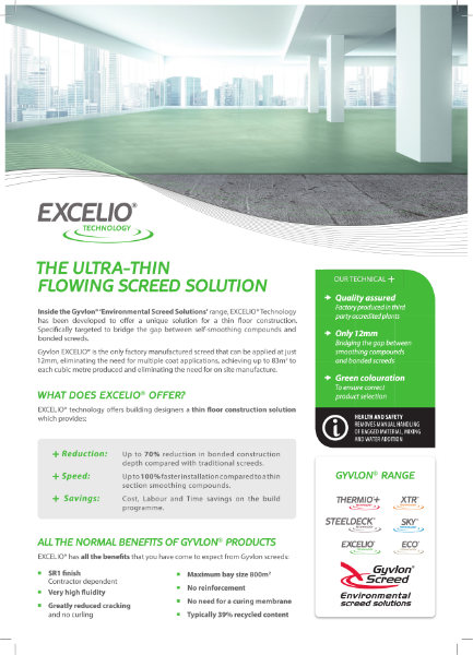 Excelio thin section floor levelling solution