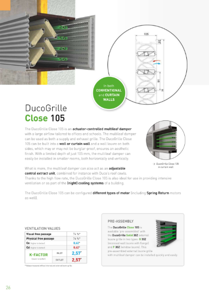 DucoGrille Close Multi Leaf Damper