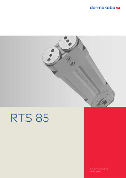 RTS 85 Transom Concelaed Door Closer