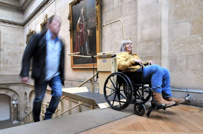 A Stannah wheelchair lift supports access in Castle Howard
