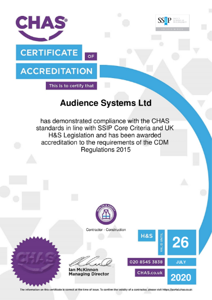 CHAS SSIP accreditation