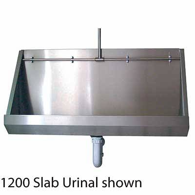 Stainless Steel Wall Hung Urinal, 2400 x 300 mm
