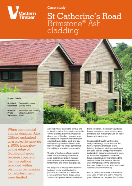 Self builder chooses Brimstone ash timber cladding for his Passivhaus certified build