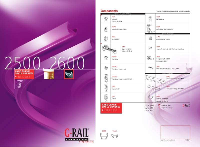 G-Rail hand drawn small channel - 2500, 2600