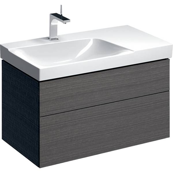 Xeno² cabinet for washbasin with shelf surface, with two drawers