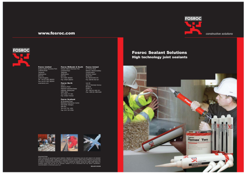 Fosroc Sealants Brochure 2011