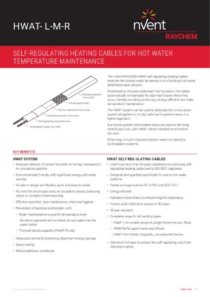 Single Pipe Hot Water Temperature Maintenance - HWAT