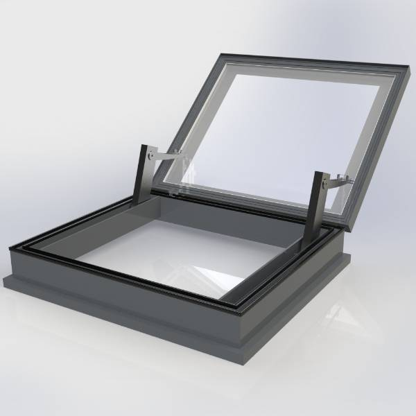 Flatglass Hinged AOV Access