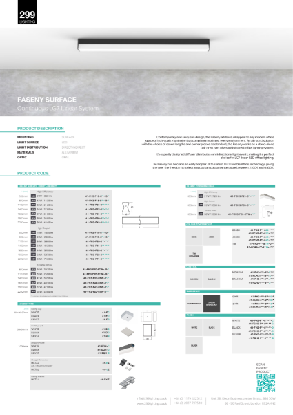 Faseny Surface Feature Lighting Datasheet