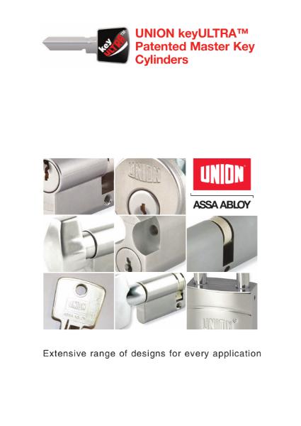 KeyULTRA 6 pin master key cylinder system