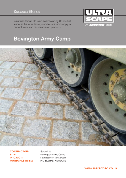 Bedding. Jointing. Sealing. Bovington Army Camp