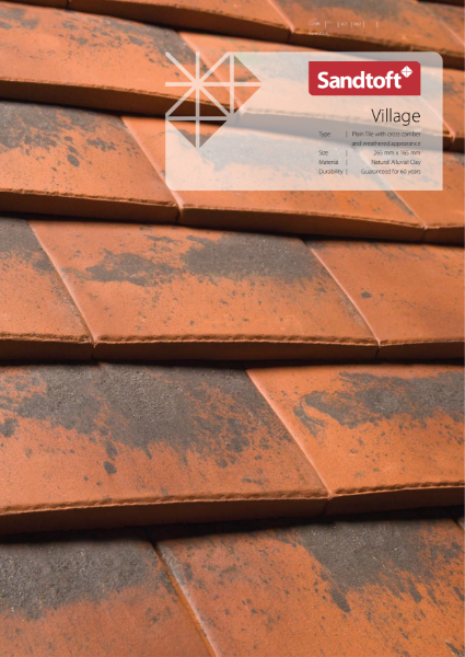 Sandtoft Village Plain Tile with cross camber and weathered appearance