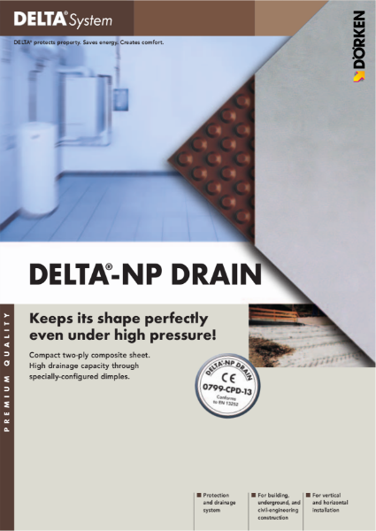 Delta-NP Drain Protection and Drainage System