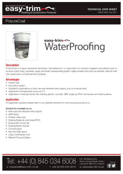 Polyurecoat Waterproofing Systems