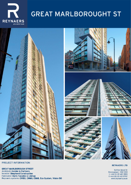 Case Study: Great Marlborough Street, featuring CS 68 aluminium windows