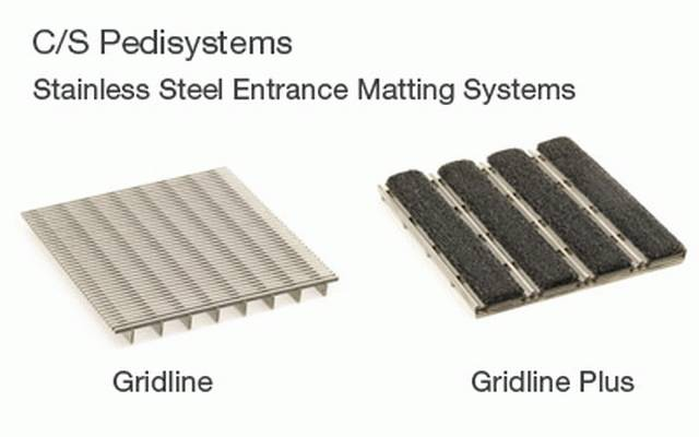 CS Pedisystems® Gridline Stainless Steel Entrance Matting
