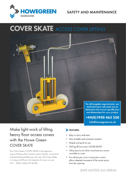 Howe Green Floor Access Cover Skate