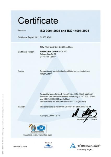 ISO 9001: 2008 & ISO 14001: 2004