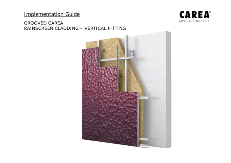 Implementation Guide for Grooved Panels - Vertical Fitting