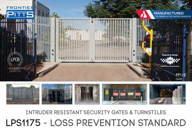LPS 1175 Security Gates, Secured by Design approved