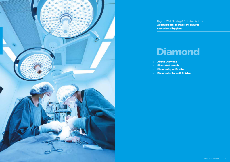 Trovex Diamond - Hygienic Wall Cladding