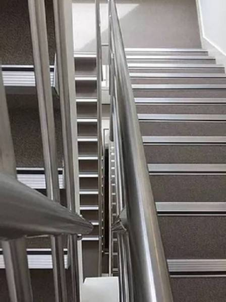 Aluminium Stair Nosings with Concealed Fixings, 5 mm Gauge and Ramp Tread Profiles