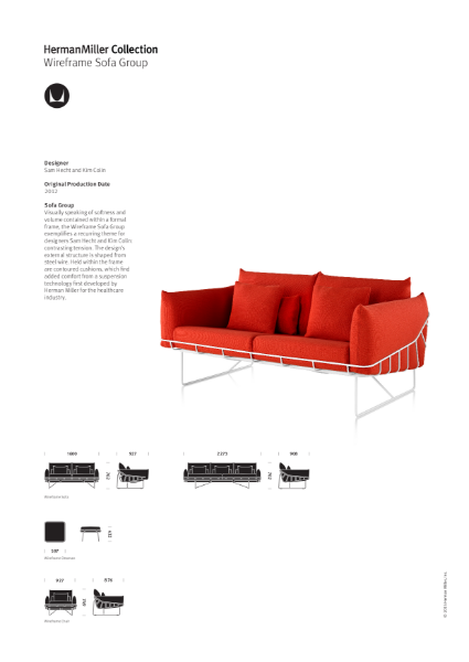 Wireframe Lounge Seating - product Sheet