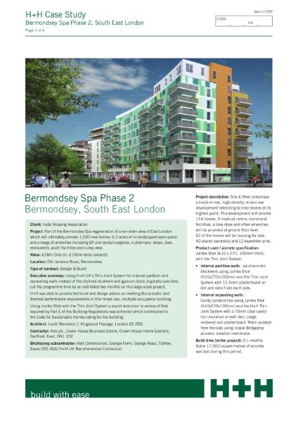 Case Study - Bermondsey Spa