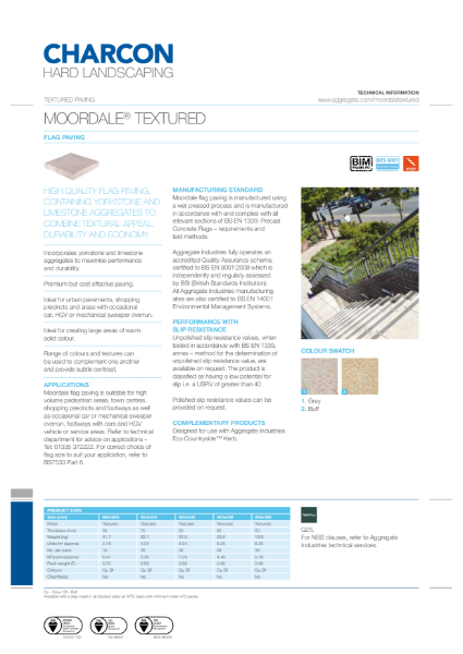 Charcon Moordale® Textured flag paving