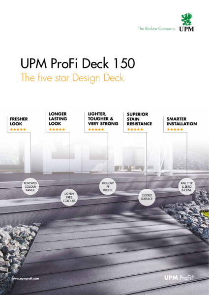 UPM ProFi Deck 150 - The five star decking