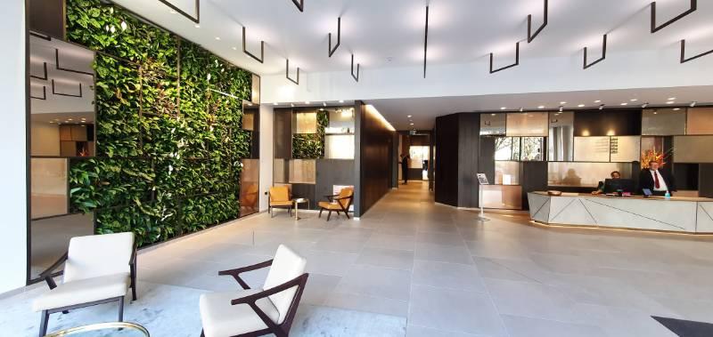 Golden Square interior Living Wall