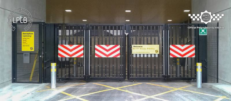 LPS1175 Double Leaf Platinum Bi-folding Gate SR2/3, Secured by Design