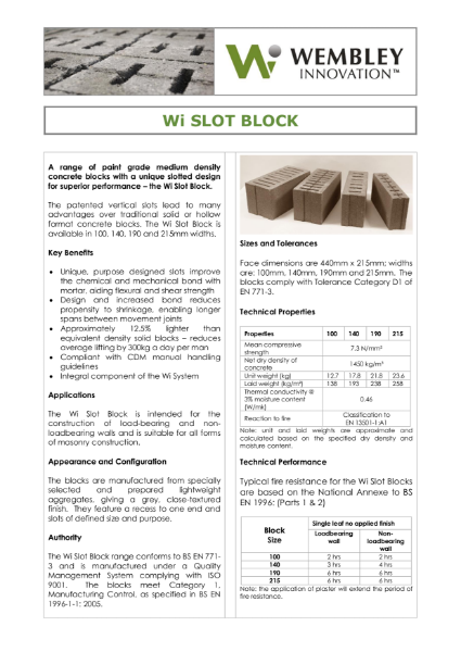 Wi Slot Block Brochure