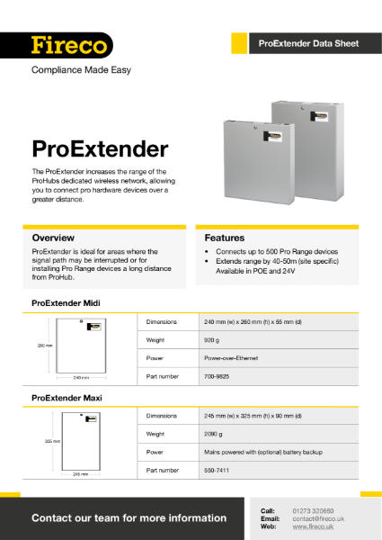 ProExtender Technical Data Sheet
