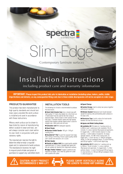 Spectra Slim Installation Guide