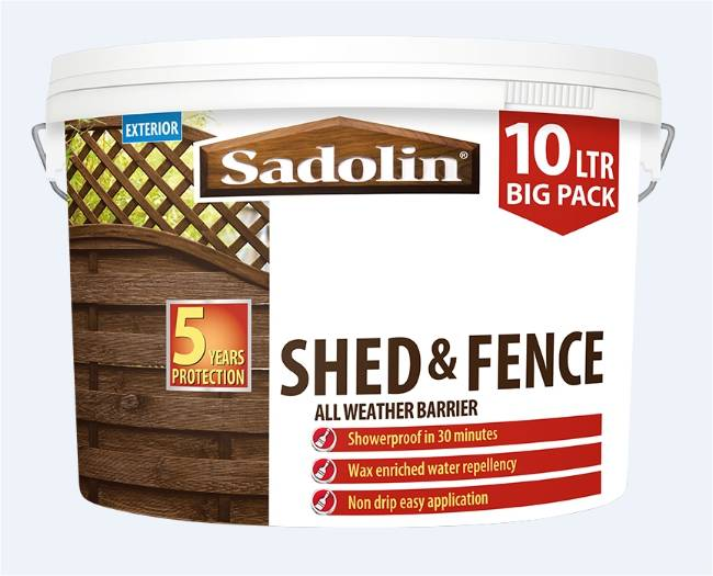 Gear up for Spring outdoors with new Sadolin Shed & Fence All Weather Barrier