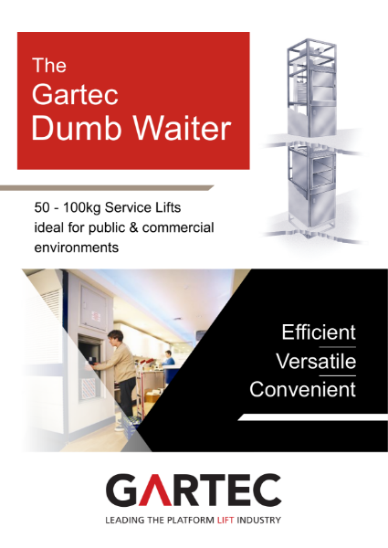 Gartec Dumb Waiter Service Lift Brochure