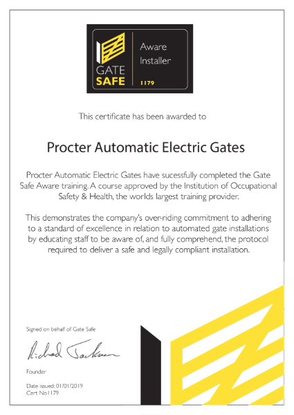Gate Safe Accreditation