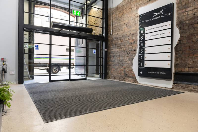 Elegant Entrance Matting at Glasgow's The Garment Factory