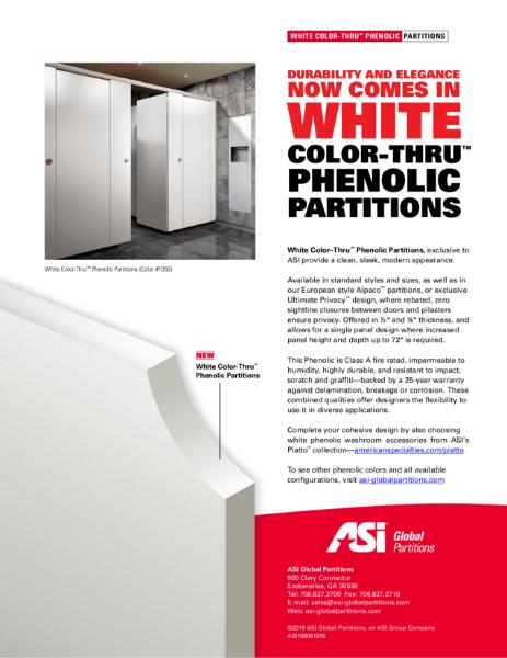 White Color-Thru Phenolic