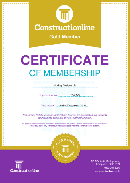 Construction Line 2021 Certificate