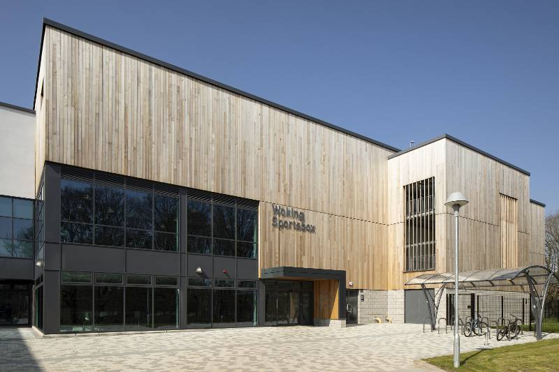 Canadian Western Red Cedar Timber Cladding Case Study - NORclad - Hoe Valley School