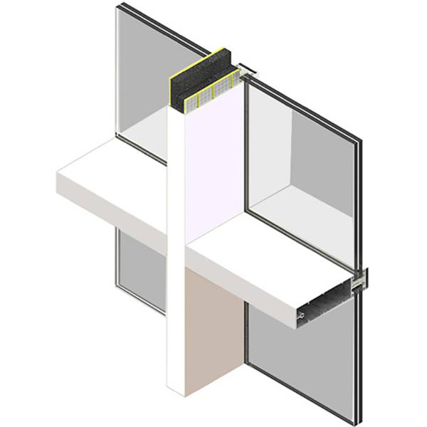 SIDERISE MI Mullion and Transom Inserts for Curtain Walling (formerly Lamaphon Mullion / Transom Inserts)