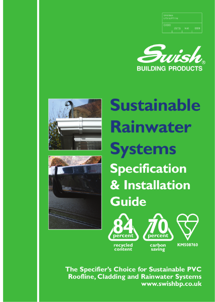 Swish Sustainable Rainwater Systems: Specification & Installation Guide