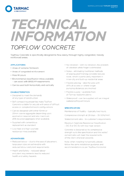 Topflow Self Compacting Concrete