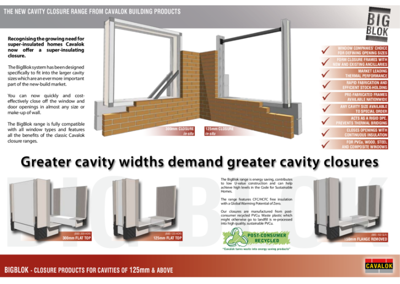 BigBlok Cavity Closure Range Product Sheet