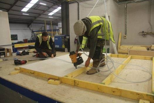 Oakworth Homes Timber Frame use 9mm Magply in Timber Frame Construction.